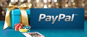 PayPal Casino With Present And Playing Cards